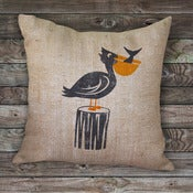 Image of Pelican Burlap Pillow