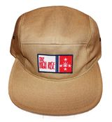 "Image of ""Flag Patch"" 5 Panel Hat (Khaki)"