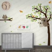 Image of Koala Wall Sticker Decal with Owls
