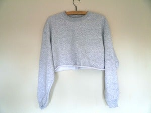 Image of Grey Marl Cropped Sweater
