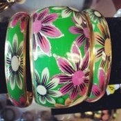 Image of Painted Floral Bangles 