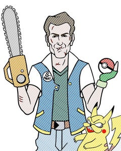 Image of Evil Dead/Pokemon 16 by 24 Limited Print