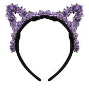 Image of Lilac Floral Cat Ears  TEMPORARILY OUT OF STOCK