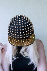 Image of Gold Spiked Snapback