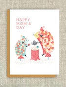 "Image of ""Hedgehog Tea Party"" Mother's Day Card"