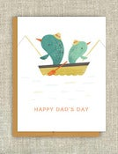 "Image of ""Gone Fishin"" Father's Day Card"