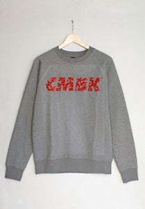 Image of CMBK Red Floral Sweater (Grey)