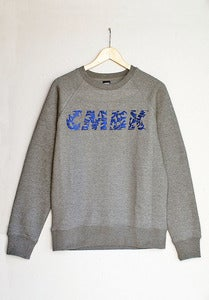 Image of CMBK Navy Floral Sweater (Grey)