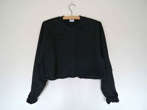 Image of Black Cropped Sweater