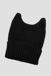 Image of black cat ears beanie hat by A Lice