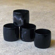 Image of black horn napkin rings
