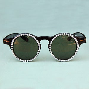 Image of Pearly White Customized Sunglasses 