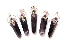 Image of Large Amethyst Point Wand Necklace