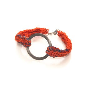 Image of elenii Circular bracelet Orange/Blue/Gold 