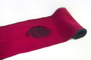 Image of The Nature Scarf    Grey/Fuchsia  