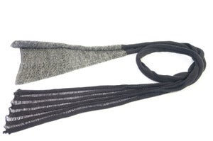 Image of The Gem scarf   Grey/Light Grey 