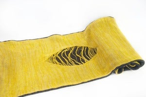 Image of The Nature Scarf    Grey/Mustard/Yellow/