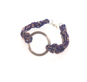Image of elenii Circular bracelet Purple/Blue/Gold 