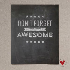 Image of Be Awesome — 11x14 Print