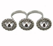 Image of Crystal Triple Knuckle Ring
