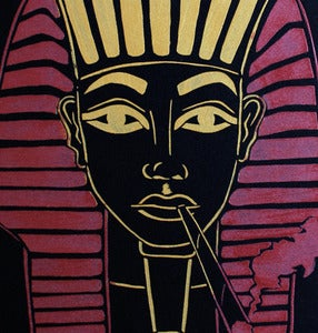 Image of SICK 'PHARAOH' Back Patch - Black&Gold&MetallicRed