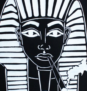 Image of SICK 'PHARAOH' Back Patch - Black&White