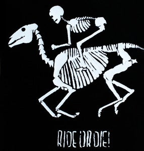 Image of SICK 'RIDE OR DIE!' Back Patch - Black&White