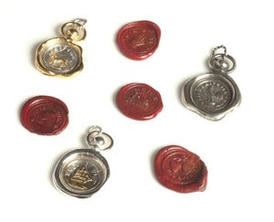 Image of 19th c. Mini Wax Seal Charms NEW
