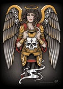 Image of Angel Holding Devil Skull Print