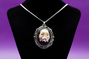 Image of Half Skull Cameo Necklace