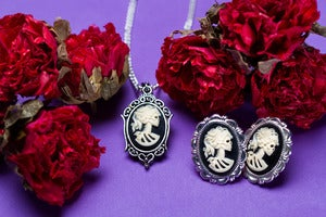 Image of Petite Lolita Necklace Earrings Set