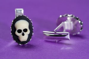 Image of Skull Cameo Cufflinks