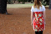 Image of Pretty Red Dreams - Linen Dress