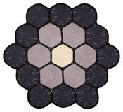 Image of Large Floor Mat - multi grey