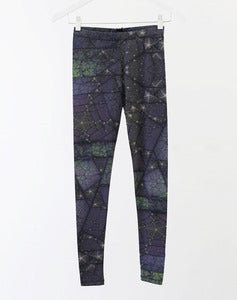 Image of MATRIX Leggings - Green/Purple Fractal