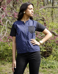 Image of Carmen - Black/Navy Blue