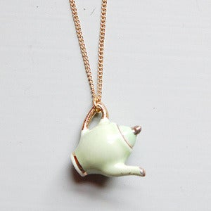 Image of Mint Green Teapot Necklace by And Mary