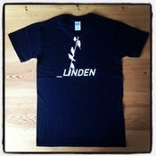 Image of Linden T-shirt in black with white logo