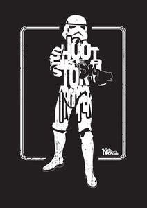 Image of LIMITED EDITION Shoot Like A Stormtrooper Print