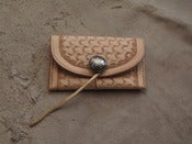 Image of basket weave card wallet