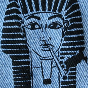 Image of SICK 'PHARAOH' Patch - Light blue denim