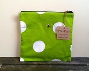 Image of Yarn Pop - Green w/White Polka Dots (Single)