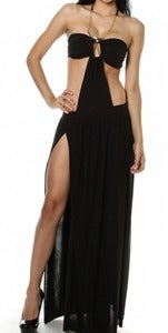 Image of Sexy Open Back, Double Slit Maxi Dress