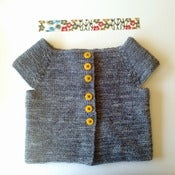 Image of cap sleeve cardigan