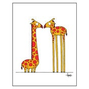 "Image of ""Eye to Eye"" (Giraffes) Print"