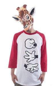 Image of Rock Paper Cut Raglan - Red