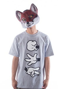 Image of Rock Paper Cut Tee - Grey