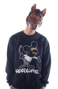 Image of Hoodlums Crew - Black