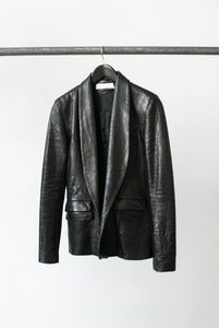 Image of ONYX leather blazer