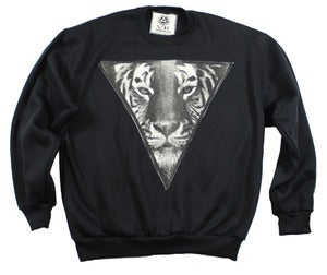 Image of UNISEX BLACK TIGER CREWNECK